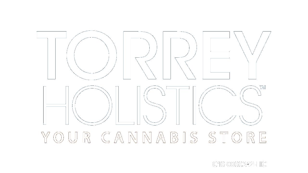 Torrey Holistics White Logo w License Transparent Background